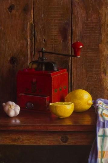 Red coffee grinder