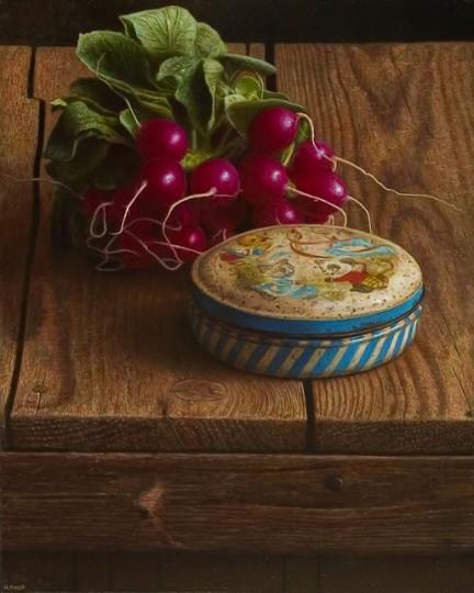 Still-life with radishes
