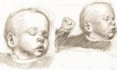 Janneke als baby