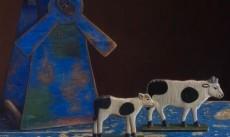 Still life with tiny cows