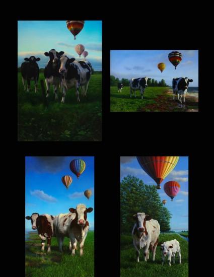 Koeien & balonnen