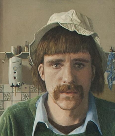 Self-portrait in kitchen
