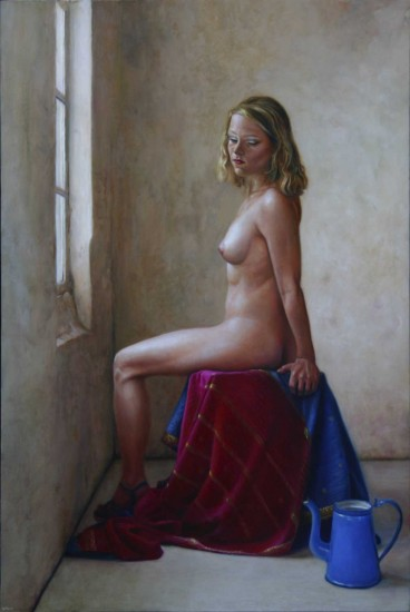 Nude at a window