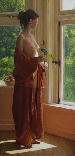 Vrouw met roos