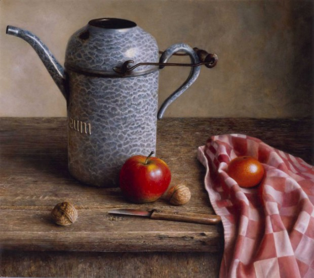 Still life with oil-can