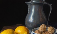 Lemons and pewter flagon