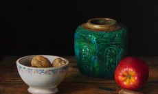 Gemberpot en appel  / Ginger jar and apple