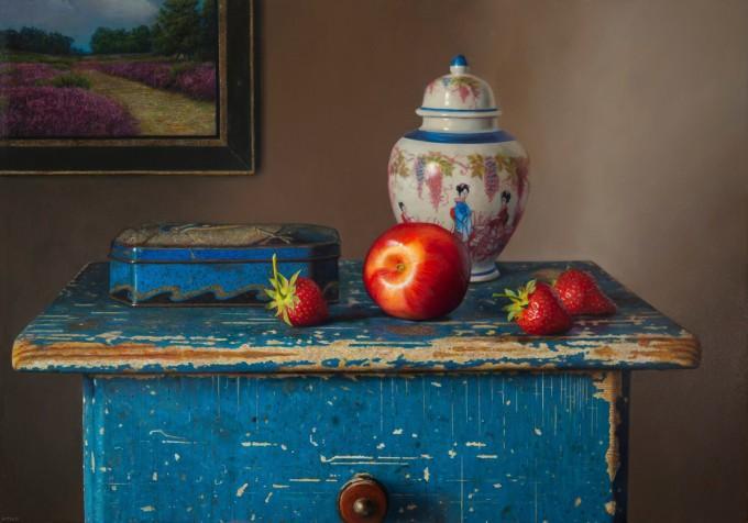 Still life with nectarine