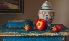 Still life with nectarine