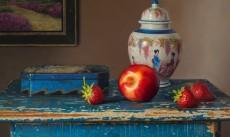 Stilleven met nectarine