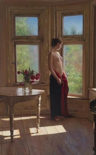 Het meisje bij het raam