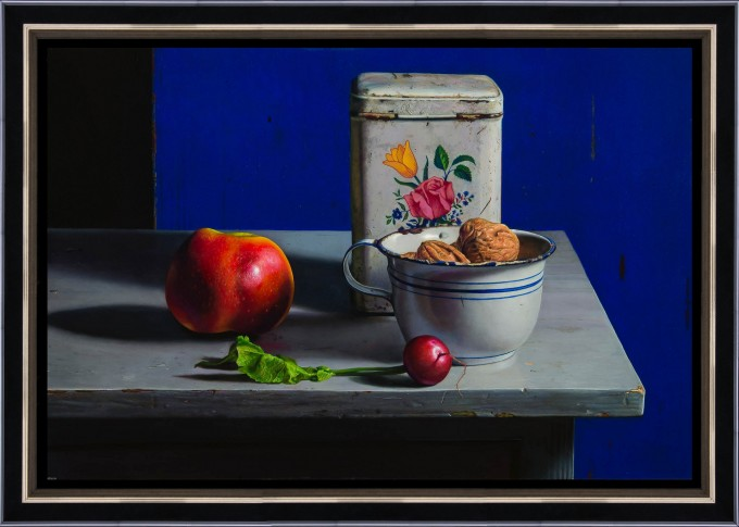 Still life with blue