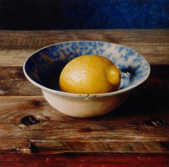 Lemon and blue